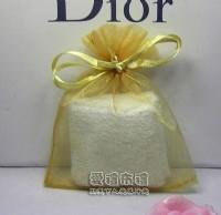 【愛禮布禮】婚禮小物:淡金色雪紗袋8x10cm,1個1.6元起_圖片(1)