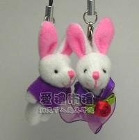 【愛禮布禮】婚禮小物: 3.5公分情侶紗裙兔(1對)藍--婚禮小物(1對)16元_圖片(1)