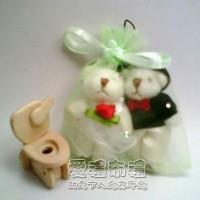 【愛禮布禮】婚禮小物:粉綠色鑽點紗袋10x12cm,1個1.8元起_圖片(1)