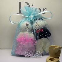 【愛禮布禮】婚禮小物: 水藍色雪點紗袋10x12cm,1個1.8元起_圖片(1)
