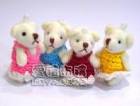 【愛禮布禮】婚禮小物:3.5公分毛衣關節熊1支9元_圖片(1)