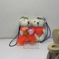【愛禮布禮】婚禮小物:3.5公分水鑽情侶紗裙熊橘1對/18元_圖片(1)