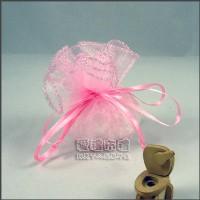 【愛禮布禮】婚禮小物:粉紅色素色圓形紗袋 D26cm,1個1.8元起_圖片(1)