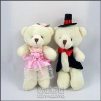 【愛禮布禮】婚禮小物:12公分情侶熊(新娘粉色禮服)1對/41元_圖片(1)