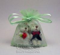 【愛禮布禮】婚禮小物:粉綠色鑽點紗袋6x8cm, 1個1.3元起_圖片(1)
