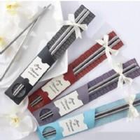 【愛禮布禮】婚禮小物:不鏽鋼筷子禮盒(現有紅紫藍3色隨機出貨不挑色)9元_圖片(1)