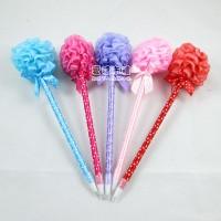 【愛禮布禮】婚禮小物:花球圓珠筆.售價為一打12支的價格(依現有顏色混出.獨立OPP自粘袋包裝)132元_圖片(1)