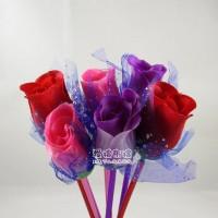 【愛禮布禮】婚禮小物:花朵造型圓珠筆, 5色混批.7元_圖片(1)