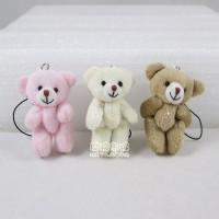 【愛禮布禮】婚禮小物:5公分雙色笑臉熊(粽色)1支12元_圖片(1)