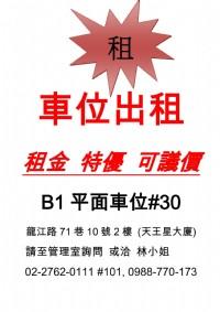 中山區 龍江路71巷 捷運南京復興站 平面停車位_圖片(1)