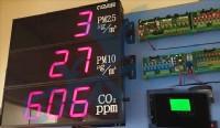 壁掛式細懸浮微粒PM2.5/PM10/Co/Co2空氣品質/PM10空氣品質偵測器/二氧化碳Co2感測器/一氧化碳C0檢知器/六合一PM2.5/PM10/C02/C0/TRH/空氣品質偵測器/_圖片(2)