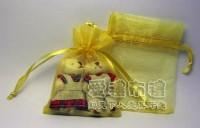 【愛禮布禮】婚禮小物: 金色雪紗袋7x9cm~1個1.3元 50個 一般價 65 元 會員價 65 元_圖片(1)