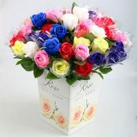 【愛禮布禮】婚禮小物: 香皂玫瑰花束(隨機出貨不挑色) 一般價 11 元 會員價 11 元_圖片(1)