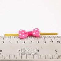 【愛禮布禮】婚禮小物:桃粉色圓點羅紋帶蝴蝶結 10個 一般價 15 元 會員價 15 元_圖片(1)