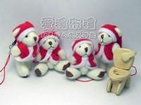 【愛禮布禮】婚禮小物:6.5公分聖誕節小熊1支12元一般價 12 元 會員價 12 元_圖片(1)