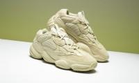 kanye west x adidas yeezy 500 舒適透氣情侶復古老爹鞋 月光黃 _圖片(1)