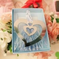 【愛禮布禮】婚禮小物:愛心(斜雙心)書簽禮盒 一般價 10 元 會員價 10 元_圖片(1)
