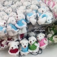 【愛禮布禮】婚禮小物: 4.5公分毛衣關節熊1支7.5元, 1組4色30元 一般價 30 元 會員價 30 元_圖片(1)