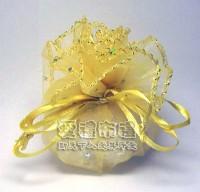 【愛禮布禮】婚禮小物:淡金色鑽點圓形紗袋 @23cm,1個1.6元50個 一般價 80 元 會員價 80 元_圖片(1)
