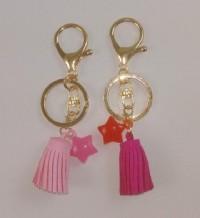 【愛禮布禮】婚禮小物:幸運星鑰匙圈禮盒.鑰匙圈+謝卡+OPP袋獨立包裝(4色平均混出)18 元_圖片(1)