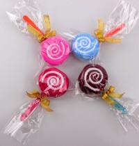 【愛禮布禮】婚禮小物:棒棒糖毛巾OPP袋裝, 1條毛巾+絨布(隨機出貨不挑色)緞帶款 一般價 10 元 會員價 10 元_圖片(1)