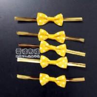 【愛禮布禮】婚禮小物:絡黃色圓點羅紋帶蝴蝶結 10個 一般價 15 元 會員價 15 元_圖片(1)