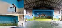 牆壁彩繪,3D彩繪,打卡牆,彩繪,3D地板彩繪,餐廳特色打卡牆彩繪,民宿彩繪,校園彩繪,LINE  ID: LI5228   tel:0935-161555_圖片(3)