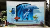 飛鴿牆壁彩繪,民宿彩繪,打卡牆彩繪@tel:0935161555  line-id : li5228_圖片(4)