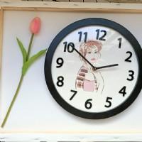 【客制手繪人像時鐘 寫實水彩藝術 送縮時影片 記錄美好】掛鐘 擺鐘 壁鐘 創意禮物 紀念日 復刻回憶 紀念品_圖片(4)