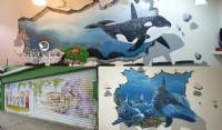 飛鴿牆壁彩繪_圖片(2)