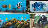 飛鴿牆壁彩繪_圖片(3)
