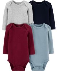 卡特的| 寶寶 4件裝條紋原始緊身衣褲_圖片(1)