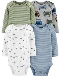 卡特的| 寶寶 4件裝條紋原始緊身衣褲_圖片(2)