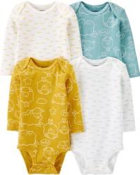 卡特的| 寶寶 4件裝條紋原始緊身衣褲_圖片(3)