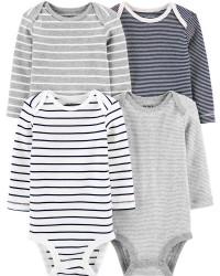 卡特的| 寶寶 4件裝條紋原始緊身衣褲_圖片(4)