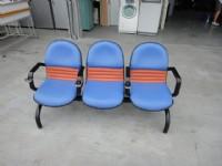 皮面三人座排椅 桃園二手家具,搬家二手家具,收購二手家具,回收二手家具,台北二手家具,2手家具,誠信2手貨,中古家具,回收辦公家具,二手傢俱_圖片(1)
