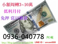 新北市民間小額借款3~10萬★㊖★融資 借錢 個人信貸 低利月付 非錢莊★㊖★當日撥款_圖片(1)