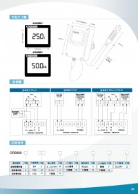 GR8000出線型溫溼度偵測,溫溼度傳訊器,LCD溫溼度感測器,溫溼度傳感器,變送器溫濕度,熱電偶, 類比二氧化碳傳訊器,控制器溫度,變送器二氧化碳,傳感器溫濕度,隔測式表面溫度計,瓦時計集合式電錶_圖片(4)