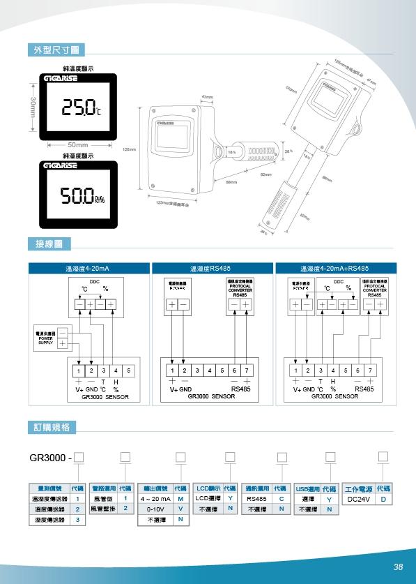 GR3000風管型溫溼度傳送器,管壁掛型溫溼度傳訊器,數位溫溼度感測器,大型溫濕度顯示看板,大型溫度顯示器,數位溫度看板,大字幕溫度看板,數位溫度看板,數位溫濕度看板,數位壓力顯示器,數位差壓計顯示器 - 20171013194711-895581848.jpg(圖)