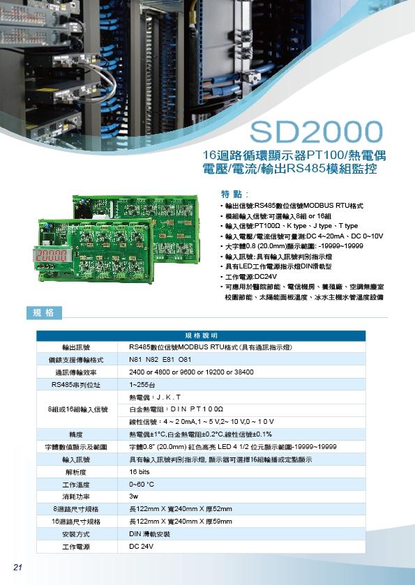 SD2000循環16輸入顯示器PT100,熱電偶,電壓,電流,輸出RS485模組監控,,控制器溫度,變送器二氧化碳,傳感器溫濕度,隔測式表面溫度計,瓦時計集合式電錶,傳送器二氧化碳數位溫度顯示器 - 20171014132832-959020311.jpg(圖)