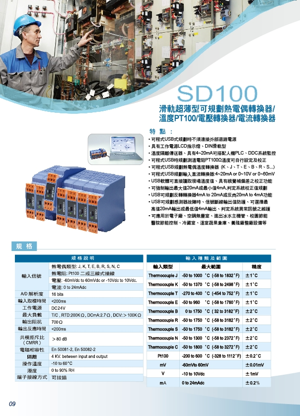 SD100類比信號隔離傳送器,類比數位隔離傳送器,4~20ma信號分配器,4~20ma分配器,類比信號隔離轉換器,數位信號隔離轉換器,PT100歐姆微電腦傳送器,數位溫度傳送器,微電腦PT100傳送器 - 20171014142139-962285549.jpg(圖)