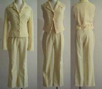 ☆╮光頭妹綺綺╭☆(出清2手套裝)鵝黃色3件式褲裝_圖片(1)
