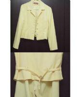 ☆╮光頭妹綺綺╭☆(出清2手套裝)鵝黃色3件式褲裝_圖片(2)