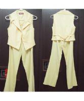 ☆╮光頭妹綺綺╭☆(出清2手套裝)鵝黃色3件式褲裝_圖片(3)