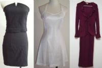 【出清2手套裝】酒紅色2件式長裙套裝/白色小禮服/2件式馬甲上衣+緊身裙_圖片(1)
