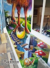 牆壁彩繪,3D彩繪,3D立體壁畫,牆面彩繪,壁畫,LINE ID: 559383,Tel:0955660115_圖片(1)