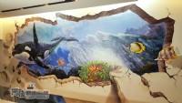 牆壁彩繪,3D彩繪,3D立體壁畫,牆面彩繪,壁畫,LINE ID: 559383,Tel:0955660115_圖片(4)